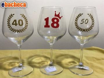 Anteprima Calici vino compleanno