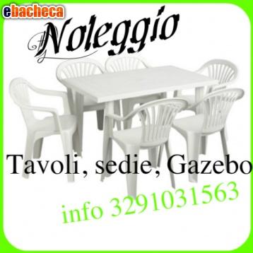 Anteprima Noleggio sedie e tavoli