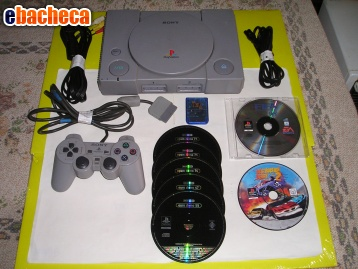 Anteprima Consolle sony PS1 + pad +
