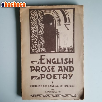 Anteprima English prose and poetry