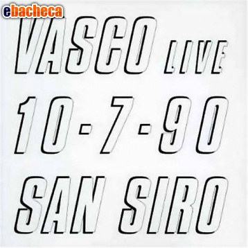 Anteprima Cd vasco live 10-7-90 san